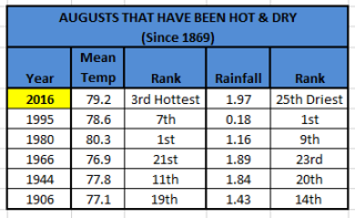 Hot Dry Augusts