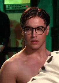 Brad majors bare chested