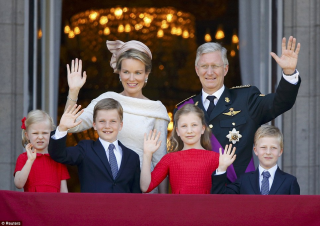 King philippe of belgium with family