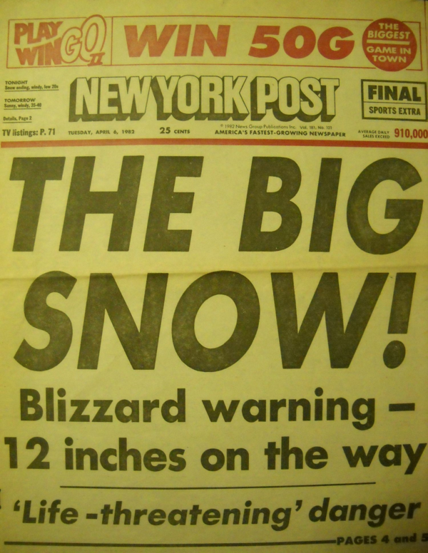 A History Of New York City Snowstorms Since 1900