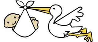 Stork.delivering.baby