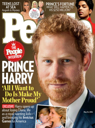 Prince harry on people mag cover