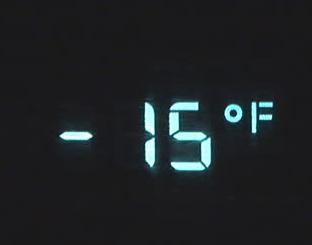 15 below zero
