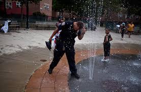 Nyc policeman cools off
