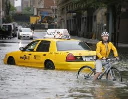 Weather_taxi_bicyclist_flooded_streets