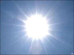 Broiling sun