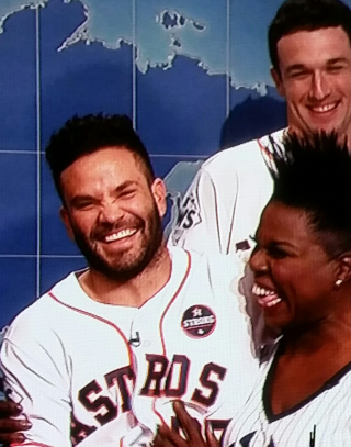 Leslie jones and jose altuve