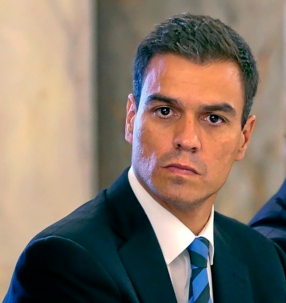Pedro sanchez looking serious